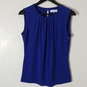 Calvin Klein S Blue Sleeveless Top
